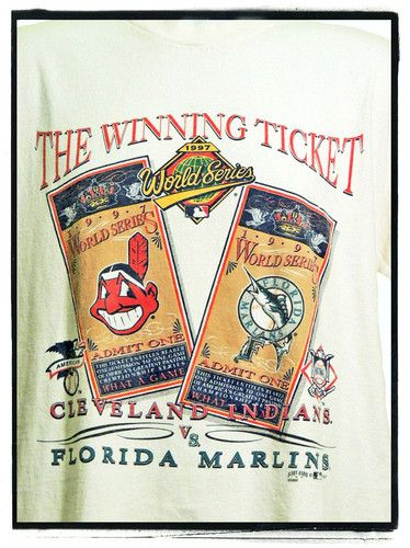 1997 World Series Cleveland Indians and Florida Marlins!