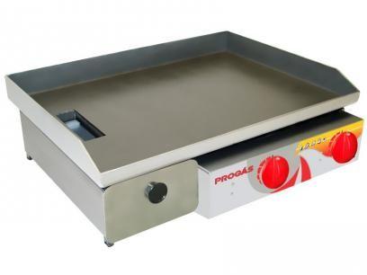 Chapa Bifeteira Aço Inox PR-650 G Style Progás - c/ Coletor de Gordura com as melhores condições você encontra no Magazine Jdamasio. Confira!