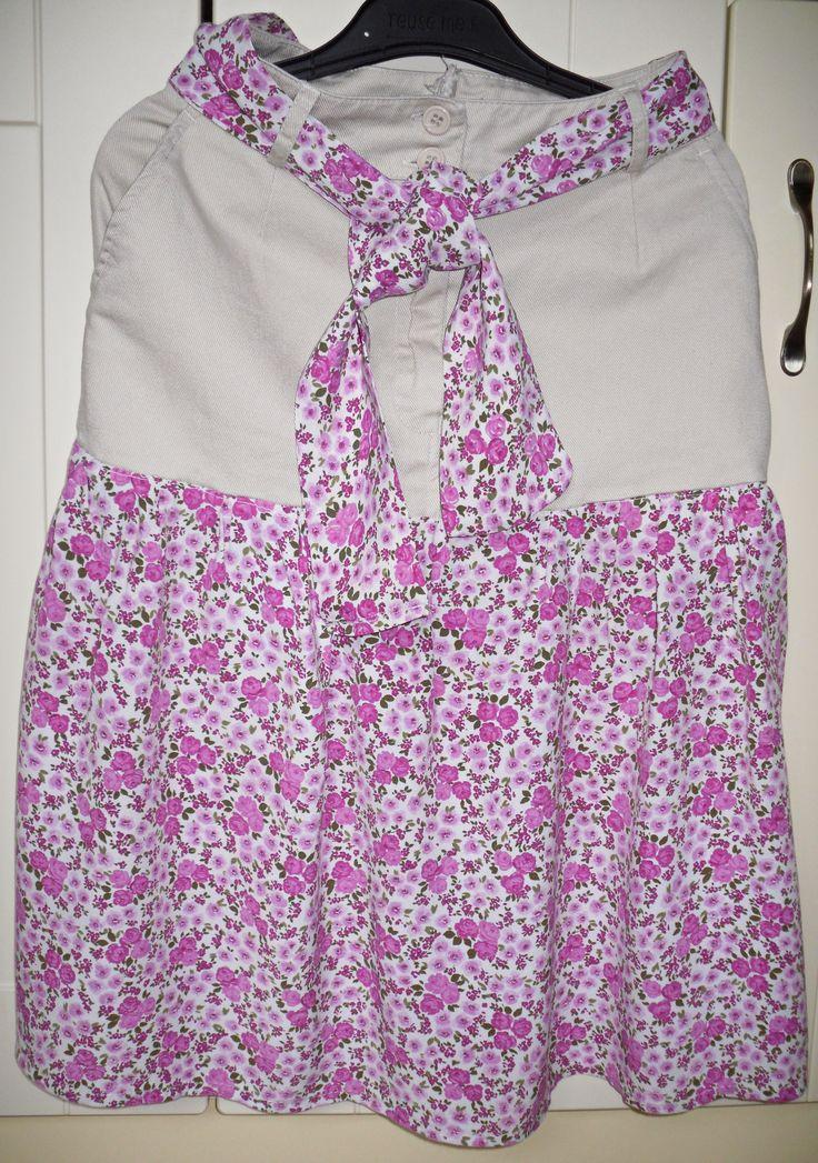 sukňa z nohavíc
