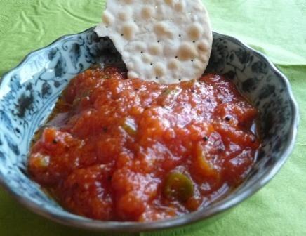 Kasundi aus Gujarat: Scharfes Tomaten Relish zum Dippen, Stippen, Tunken