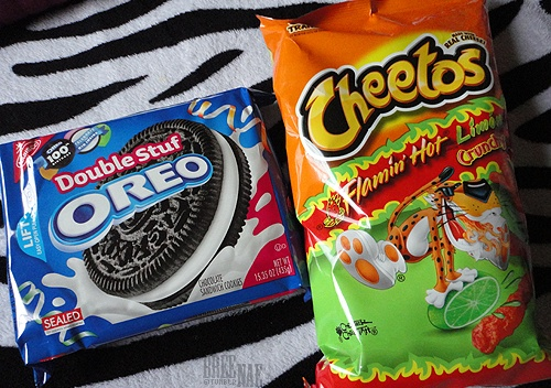2 favorite snacks. That hot Cheetos w/ limon go hard.