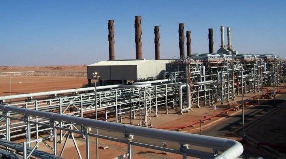 Photo non datée du site gazier d'In Amenas (Algérie). | BP PETROLEUM COMPANY / AFP