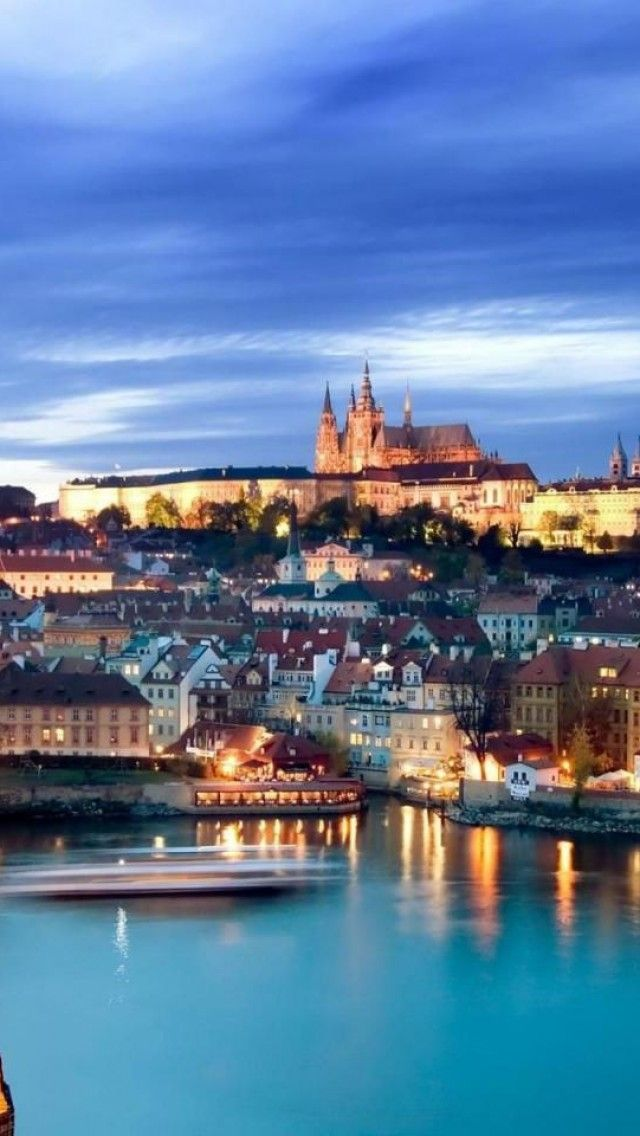 Prague, Czech Republic --- Words can't begin to describe and photos don't show how beautiful this historic city looks when it's lit up at night.