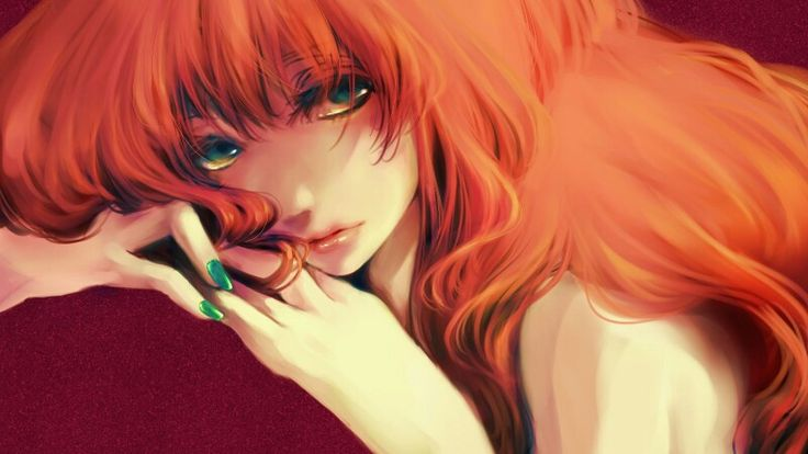 Anime girl with long red hair | Anime~ | Pinterest | Long ...