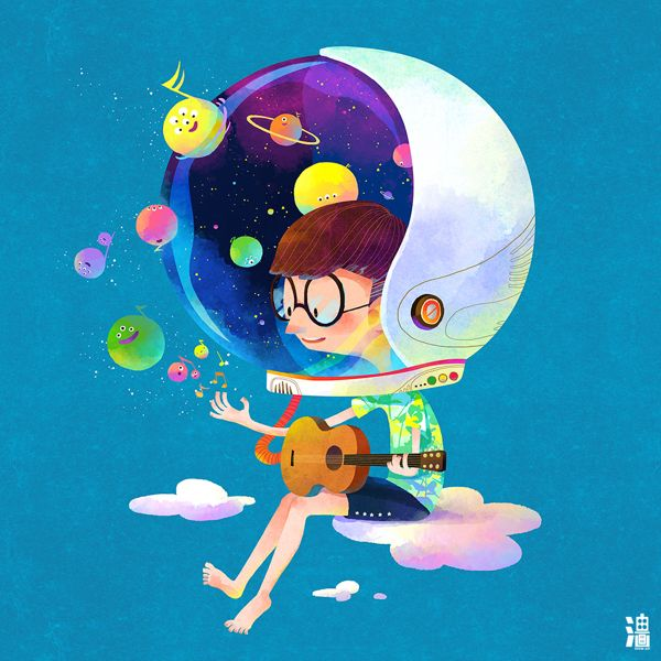 Music sprites by Little oil, via Behance