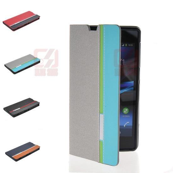 Дешевое Два цвет гибридный кожаный бумажник для Sony Xperia Z1 C6902 C6903 C6906 C6943 L39h, Купить Качество Сумки и чехлы для телефонов непосредственно из китайских фирмах-поставщиках:    Особенности:          Новый Тип книги кожаный чехол        Идеально предназначенные для вашего мобильного телефона