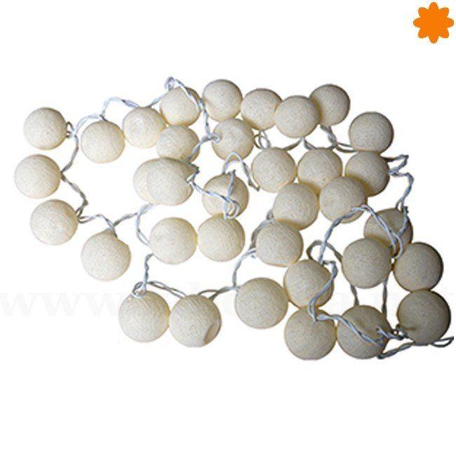 Guirnalda de Luz bolas de algodón blanco - Reikiavik