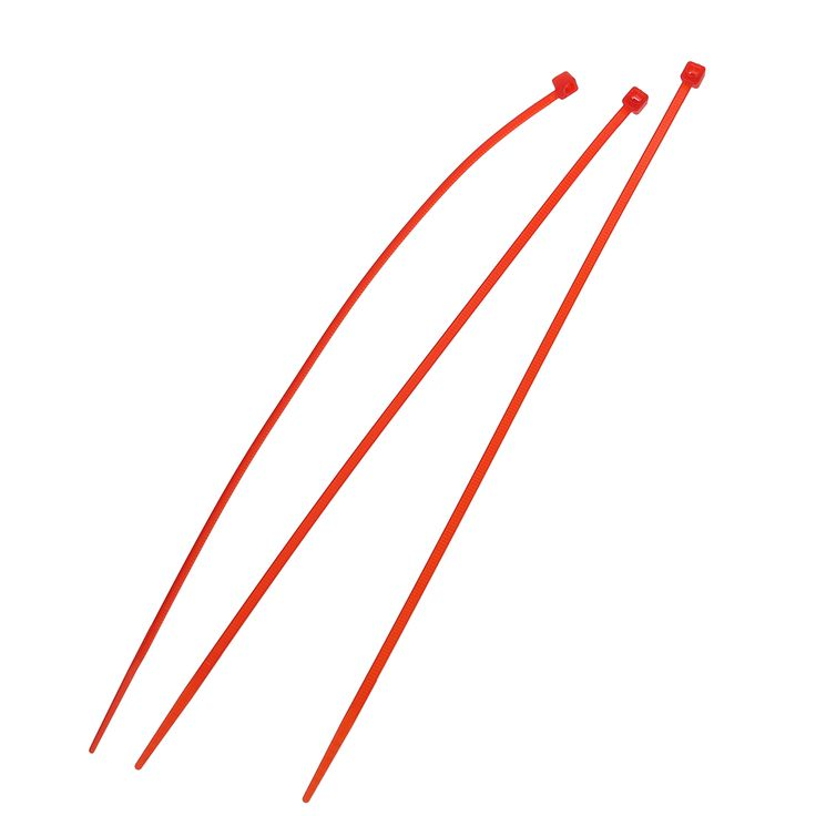 100 x 3 mm x 200 mm Red patch clamp stop cable wire tie