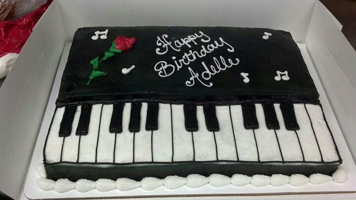 Cake Design Pianoforte : 1000+ images about music theme cakes on Pinterest Cookie ...