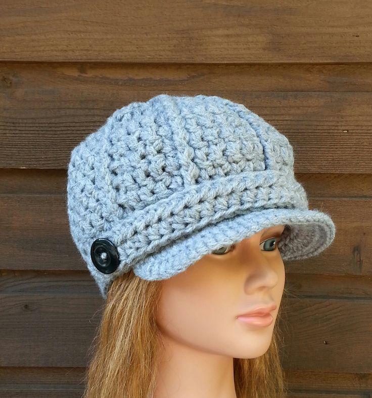 womens crochet hat, womans crochet hat, womans newsboy, vegan friendly hats, newsboys for women, hats for women, newsboy hat, 0099 by crochetHQ on Etsy