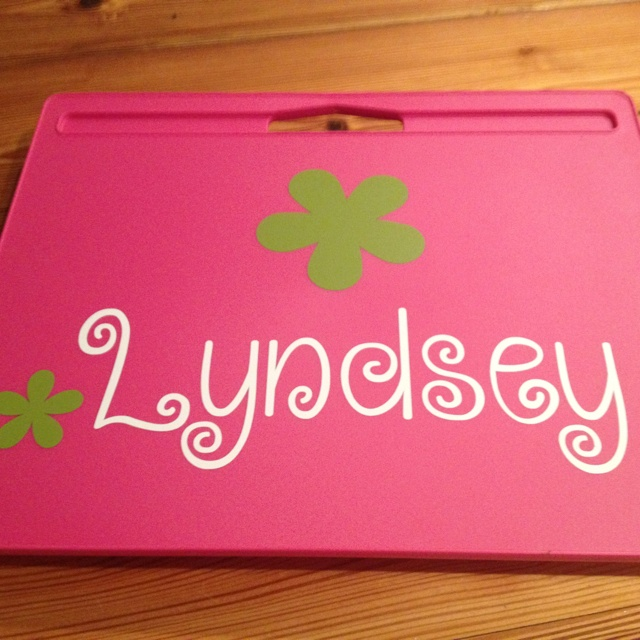 Vinyl Decals By Lauren 3x11 Vinyl Name On Lapdesk From