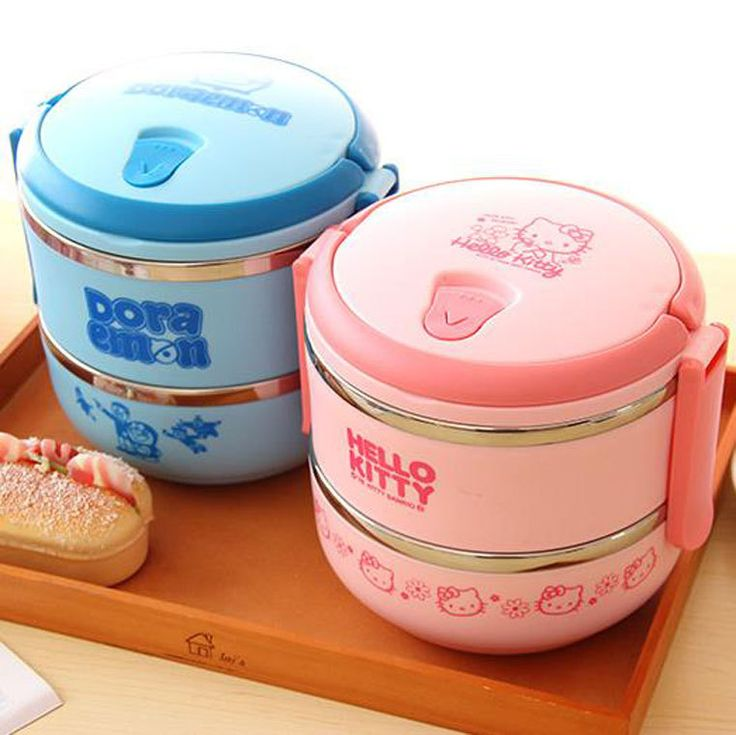1PC 2017 New Cartoon Hello Kitty Girls Lunch box Boys Bear blue Lunch box Birthday Party Favors Promotional Gifts for Kids