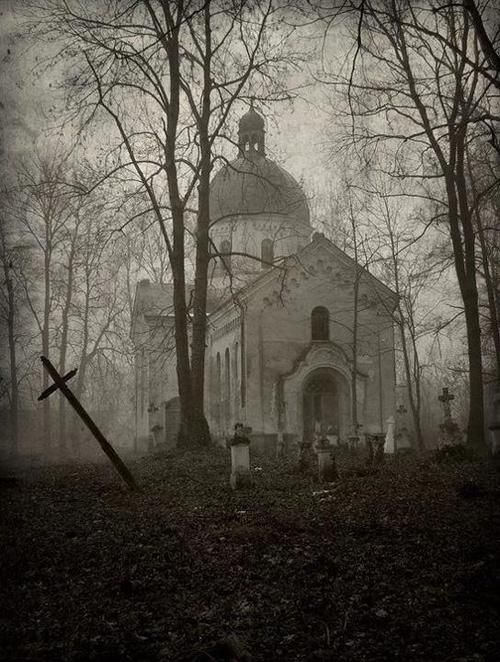 Old church in the forest.... eeeerie....