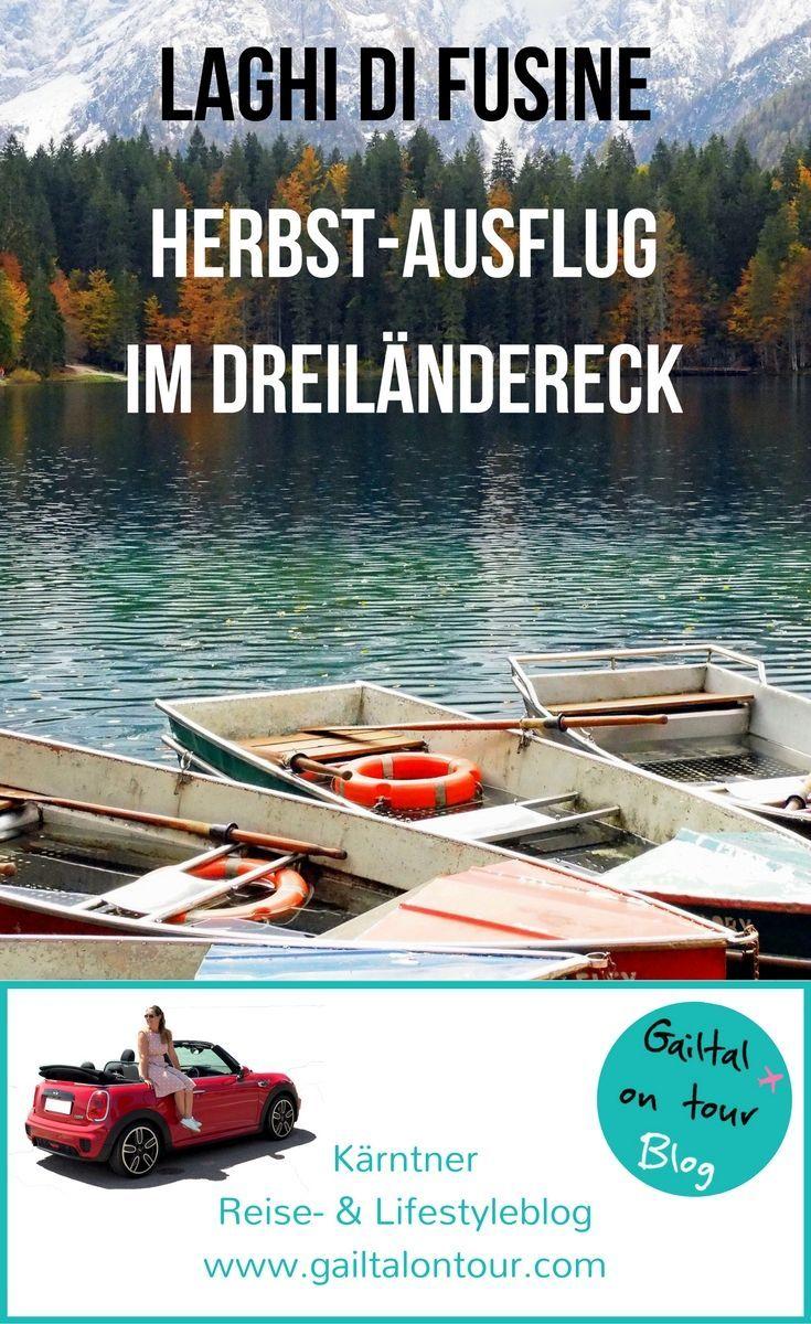 Herbstausflug zu den Laghi di Fusine. Einer der schönsten Orte im Dreiländereck Italien, Slowenien und Österreich. Inkl. Restaurranttipp für #kranjskagora