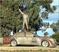 Bathurst 1000 fans remember Peter Brock at Mount Panorama, Bathurst NSW Australia