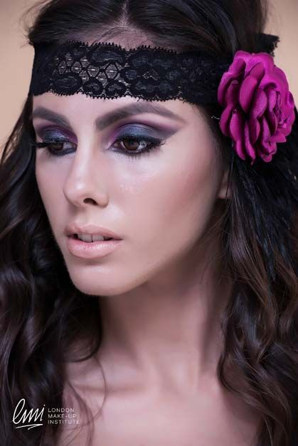 Smokey eye makeup idea! Student's work at London Makeup Institute. #makeup #fashionmakeup #eyemakeup #makeupidea #magenta