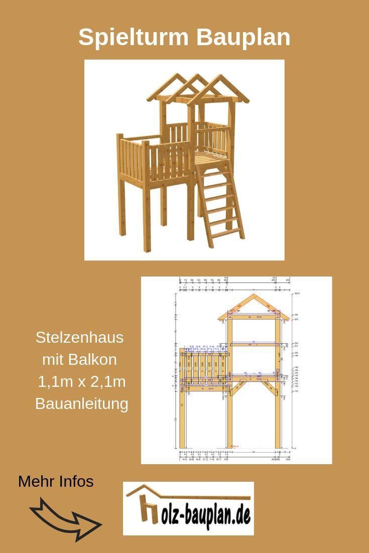 Spielhaus Bauanleitung Spielturm Selber Bauen Kinderhaus Selber