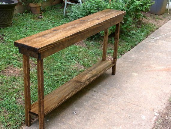 60 Inch Rustic Console Table Extra