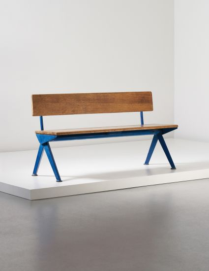 Jean Prouvé . marcoule bench, from the CEA, 1955