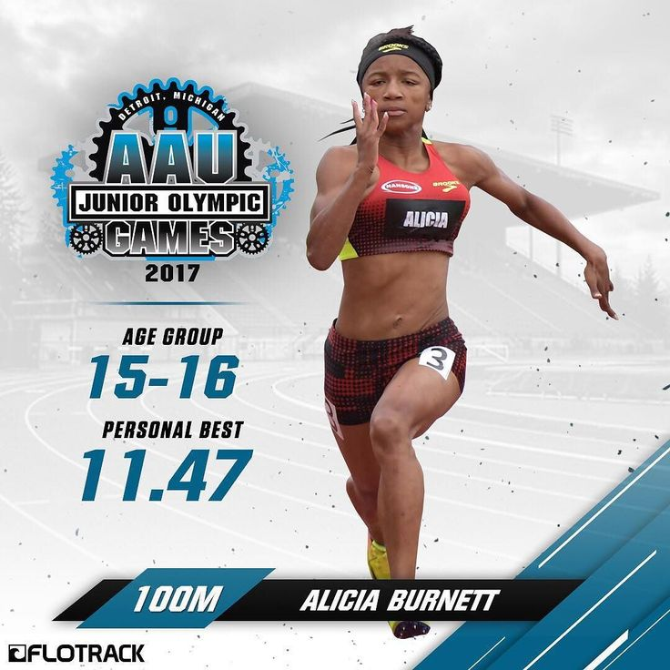 Alicia Burnett holds the 14-year-old age group AAU 100m National Record in 11.66 from last year and was the 2017 Brooks PR 100m champion. She goes into the AAU Junior Olympic Games looking to stay undefeated this season. . . . . #aaujrogames #aautrackandfield #trackandfield #track #tracknation #aliciaburnett #missouri #100m #nationalrecord #WeAreAAU