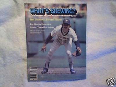 1981 Whats Brewing Milwaukee Brewers Jim Gantner | eBay