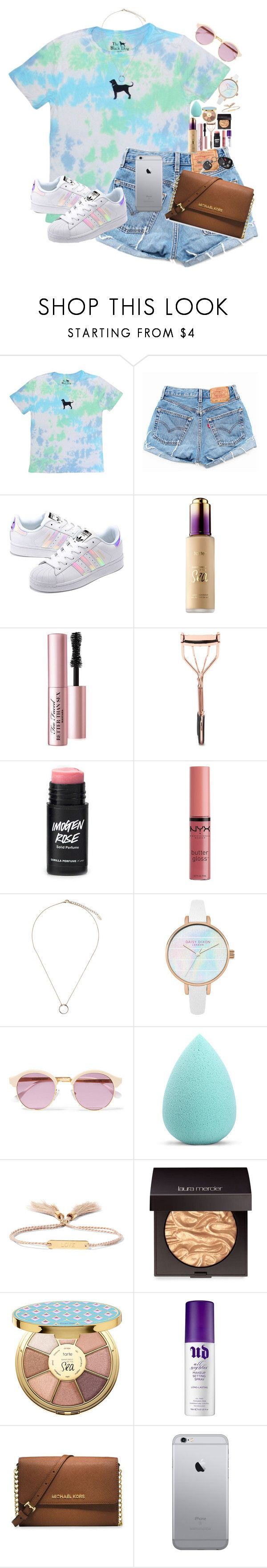 """""""«feels»"""" by lizxlol on Polyvore featuring adidas Originals, Sephora Collection, Too Faced Cosmetics, Forever 21, NYX, Orelia, Sheriff&Cherry, My Makeup Brush Set, Chloé and Laura Mercier"""
