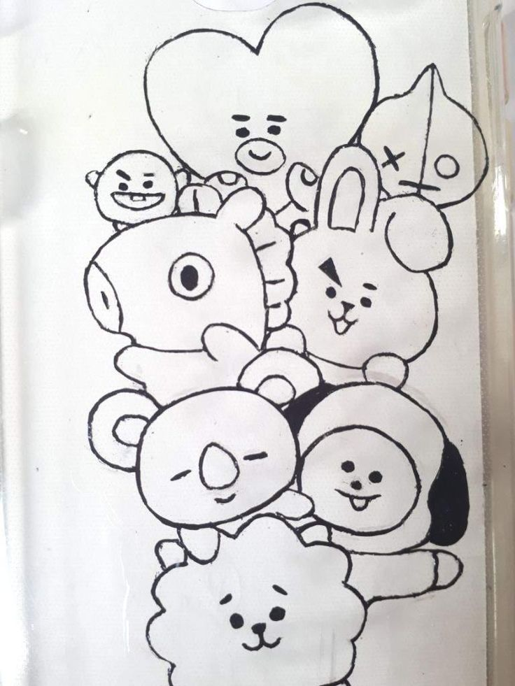 Image Result For Bt21 Coloring Pages Coloring Books Bts Cute766