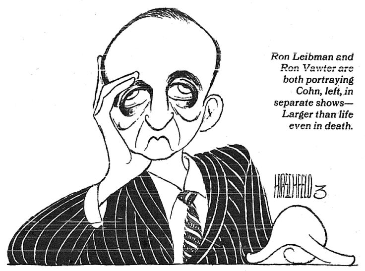 Al Hirschfeld ~ Roy Cohn