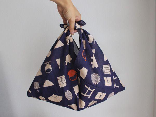 たった100円で!たった10分で!簡単な【あずま袋】の作り方 : 良品生活