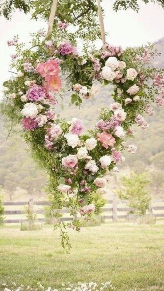 Like the wreaths at our wedding