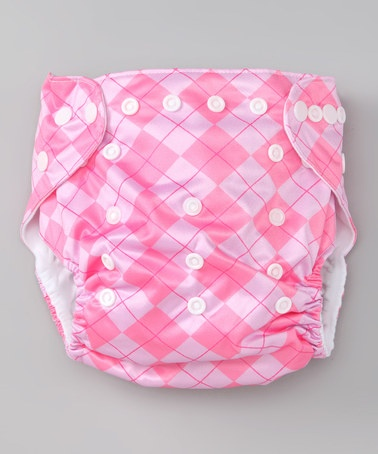 Take a look at this Pink Argyle Single-Gusset Pocket Diaper by JustSimplyBaby on #zulily today!
