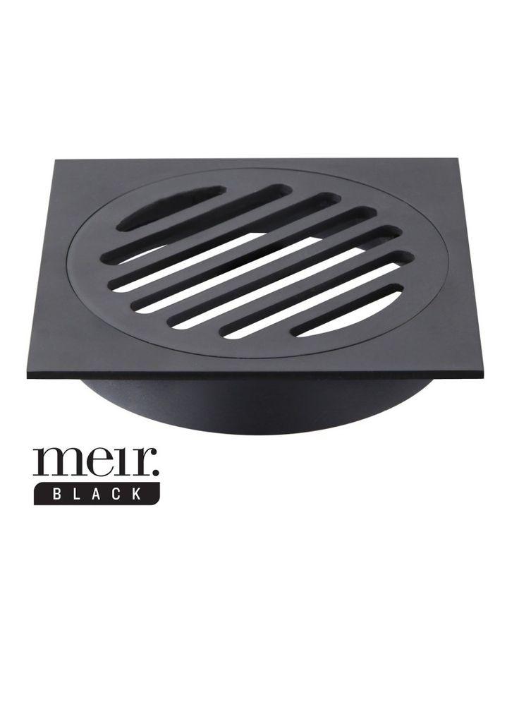 MP06 Black Floor Grate By Meir Australia 2015 Bathroom