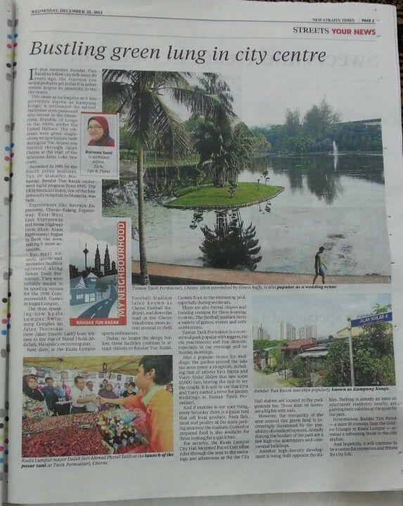 #BandarTunRazak published in #Streets #NewStraitsTimes. Home.