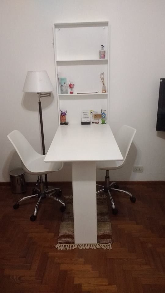 mesa comedor plegable a la pared
