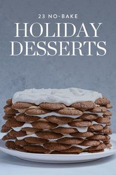 You've got your holiday dinner menu ready. We're talking turkey, green bean casserole, sweet potatoes—the works. But what about dessert? Whip up one of these out-of-this-world no-bake desserts and let your oven focus on the main event.