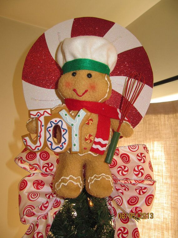 Christmas Tree Topper Candy Gingerbread Man by Christmastreetops