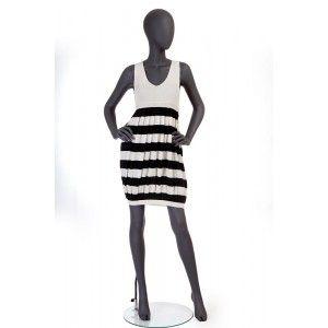 Jean Paul Gaultier - biało-czarna sukienka