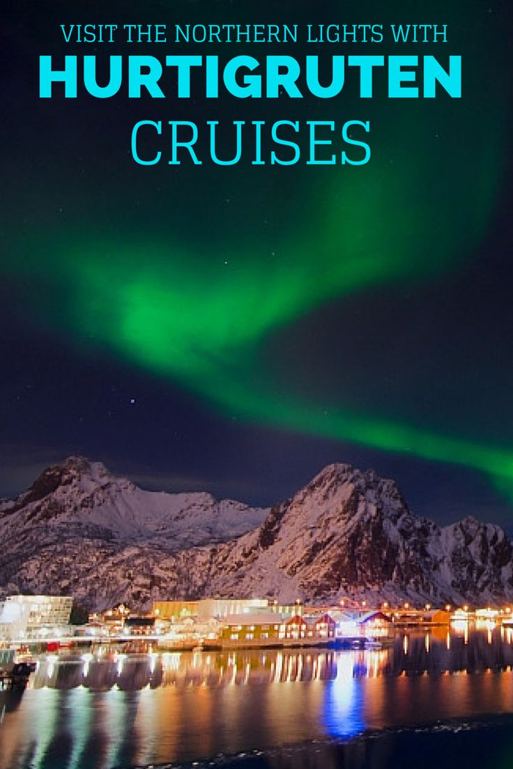 Now is the perfect time to take a winter cruise with Hurtigruten and see the Northern Lights. Why not check this off your travel bucket list? @HurtigrutenUSA
