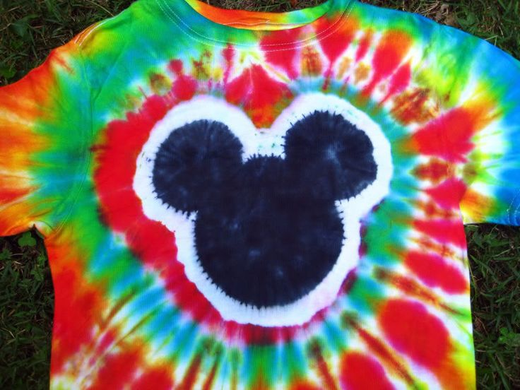 Tie Dye Mickey Mouse Shirt Diy Pinterest Trips We