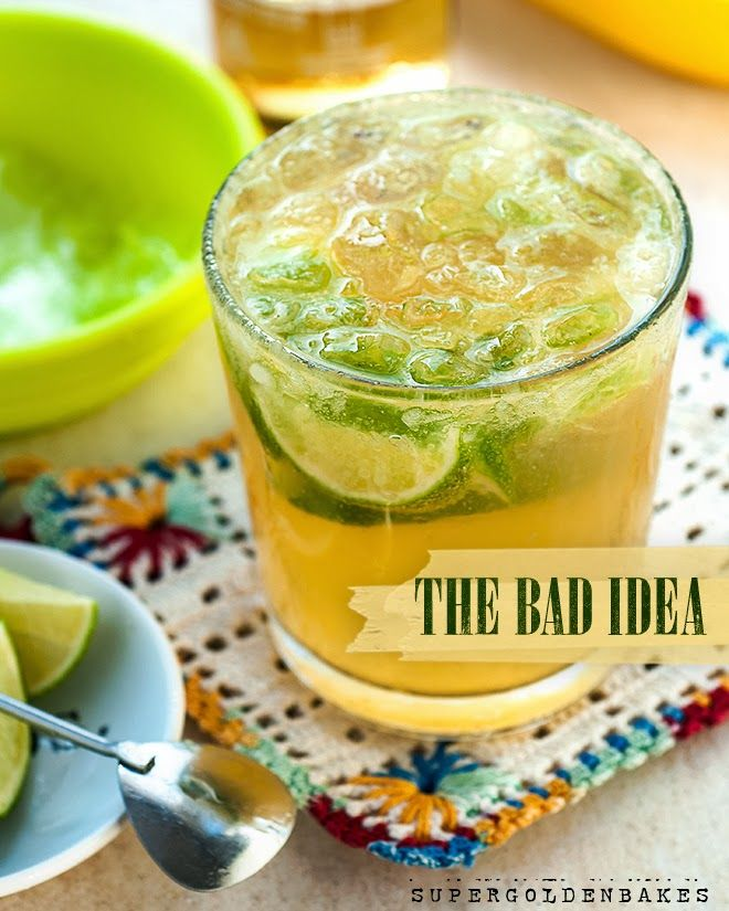 Summery and refreshing 39 bad idea 39 cocktail tequila for Cocktail triple sec