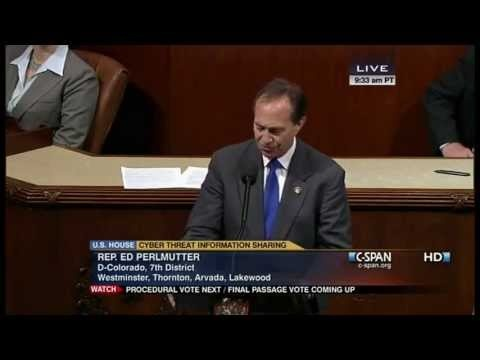 Rep. Ed Perlmutter, D-Colorado, proposes an amendment to CISPA that would protect the privacy of internet passwords.