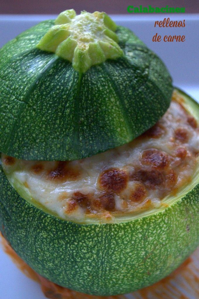 Calabacines rellenos de carne. #receta