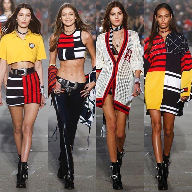 Welcome to Tommyland! Watch #TommyxGigi collection on Vogue.ru/ Джиджи и Белла Хадид Валерия Кауфман и другие супермодели на шоу @TommyHilfiger в Лос-Анджелесе. Смотрите весь показ на Vogue.ru (ссылка в профиле).  via VOGUE RUSSIA MAGAZINE OFFICIAL INSTAGRAM - Fashion Campaigns  Haute Couture  Advertising  Editorial Photography  Magazine Cover Designs  Supermodels  Runway Models