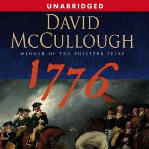 """1776 by David McCullough (11h32m) #Audible #FirstLine: """"On the afternoon of Thursday, October 26, 1775, His Royal Majesty George III, King of England, rode in royal splendor from Saint James's Palace to the Palace of Westminster, there to address the opening of Parliament on the increasingly distressing issue of war in America."""""""