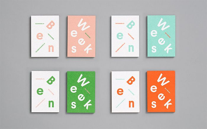 Ben Weeks Identity by Tung | Inspiration Grid | Design Inspiration