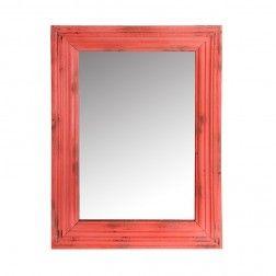 Espejo Vintage madera decoración rojo 78 cm en Nuryba.com tu tienda de muebles y decoracion online