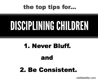 tips for disciplining children