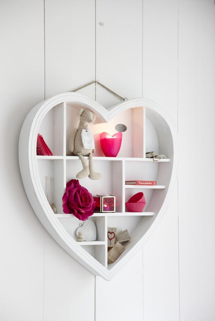 Letterbak heart naturel 40cm