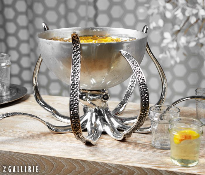 Octopus Bowl is a chic serving statement for summer parties. $169.95 #ZGallerie