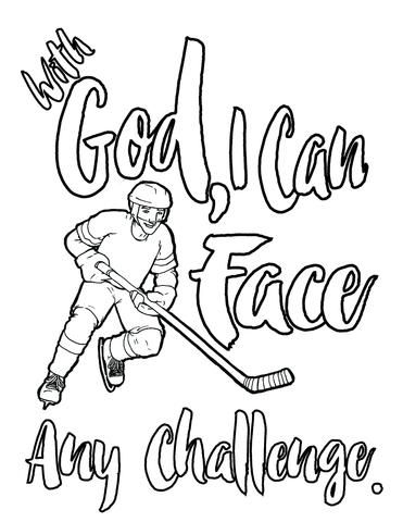 Ice Hockey Coloring Page | Coloring pages to print | Pinterest